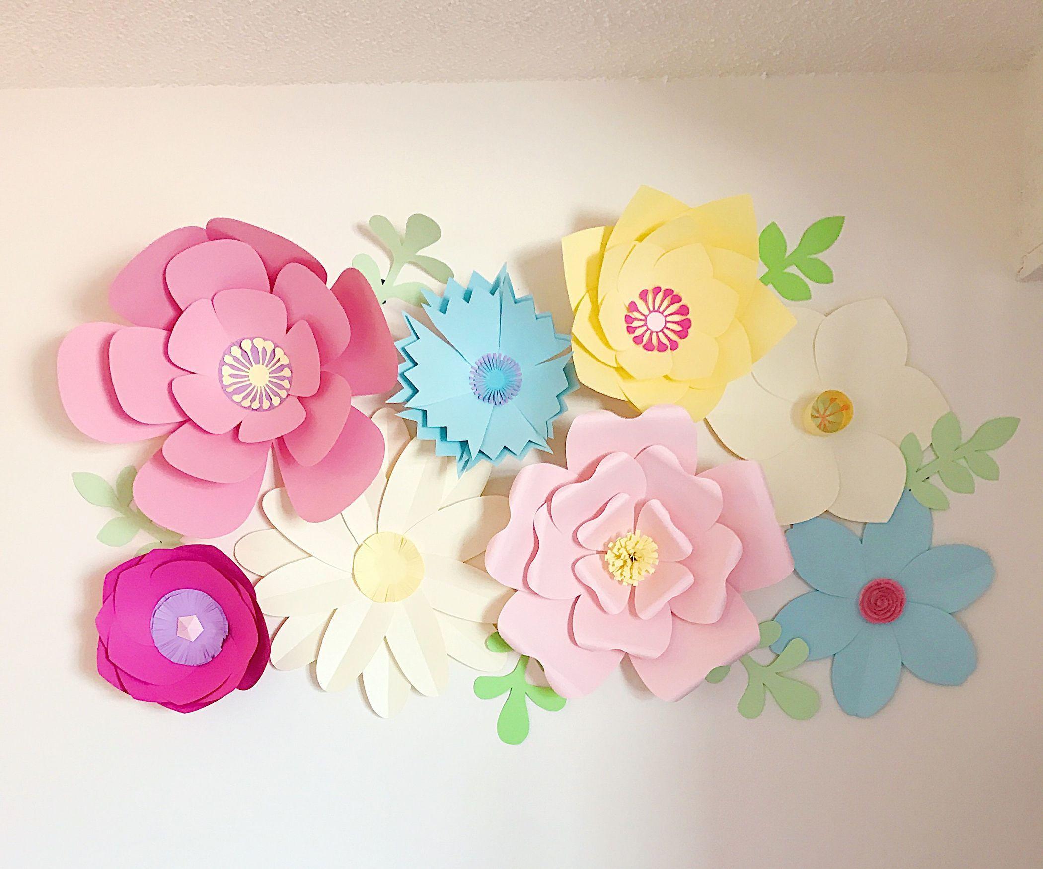 Giant Paper Flower Wall Decor  Flower wall decor Tissue flowers