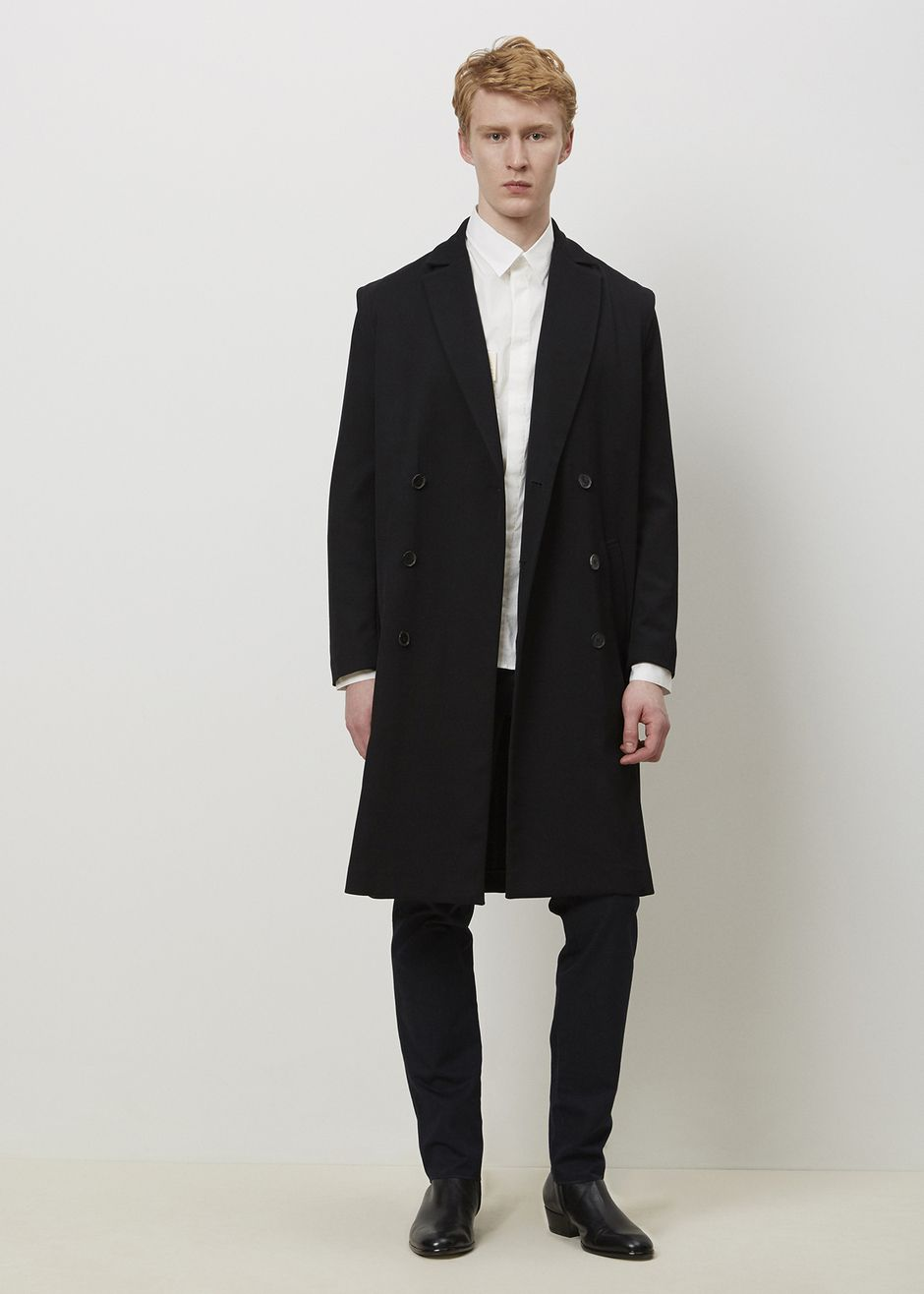 J.W. Anderson Double Breasted Crombie Coat (Black)
