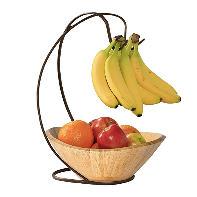 Martha Stewart Collection Wooden Banana Holder Fruit Stand Collapsible  NEW