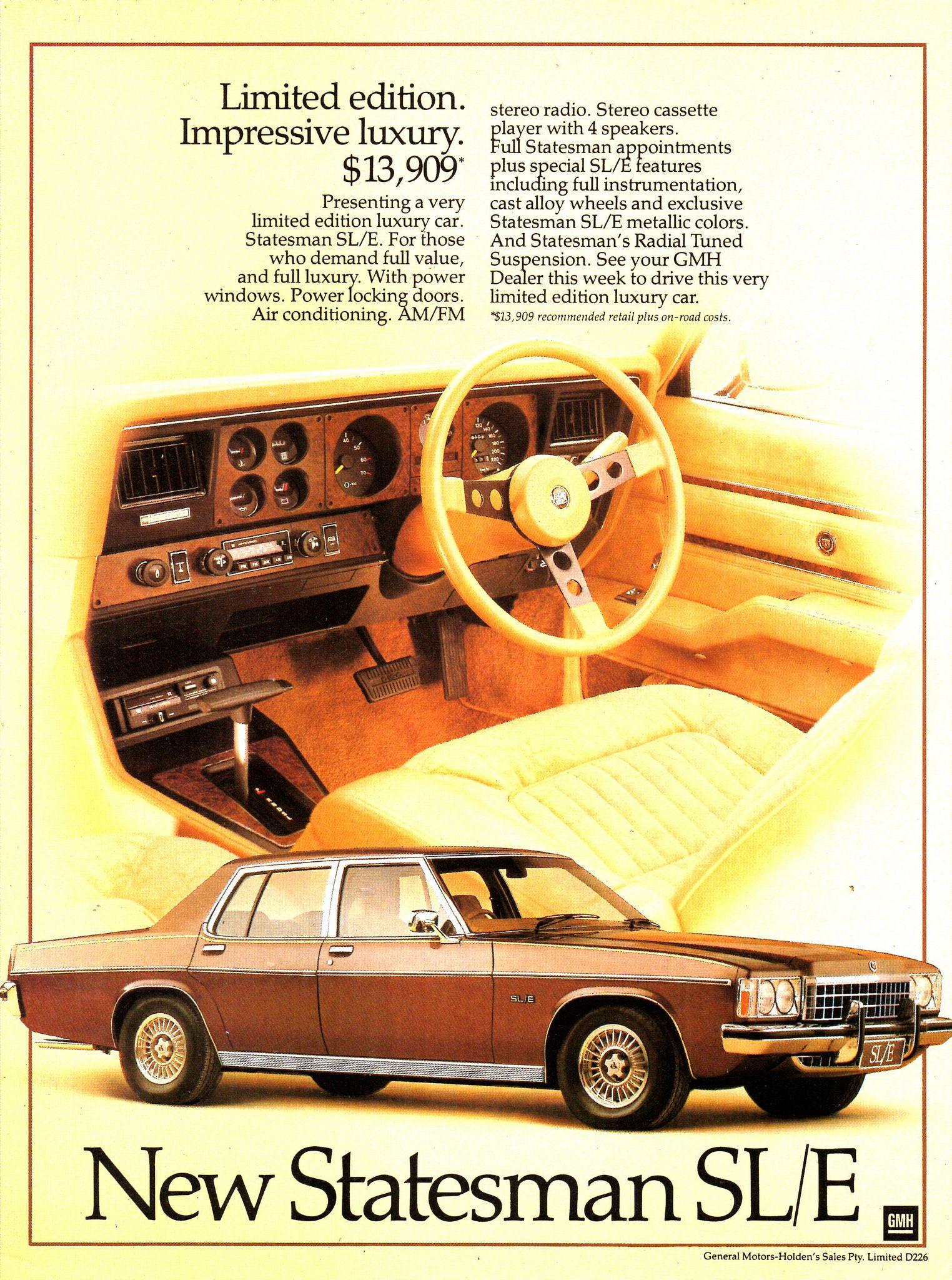 31b230b69c 1979 HZ Statesman SL E Limited Edition By Holden Aussie Original ...
