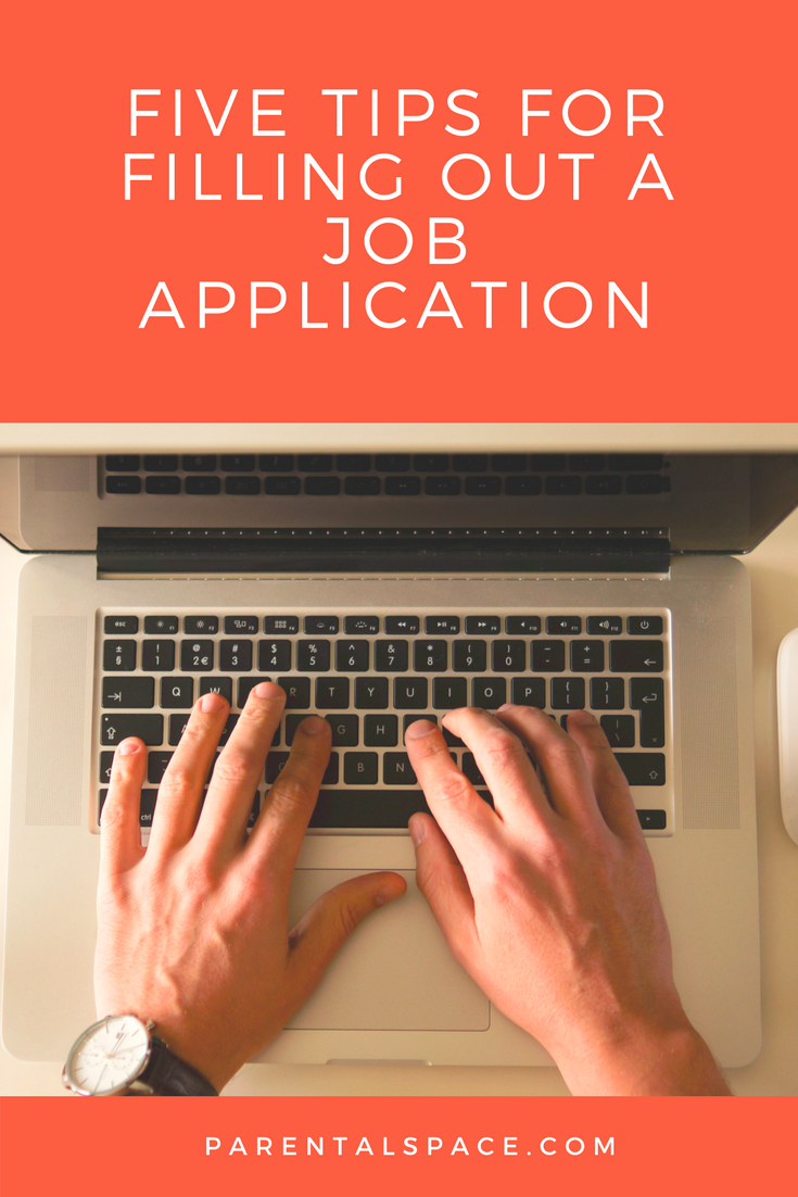 Five Tips For Filling Out A Job Application Job