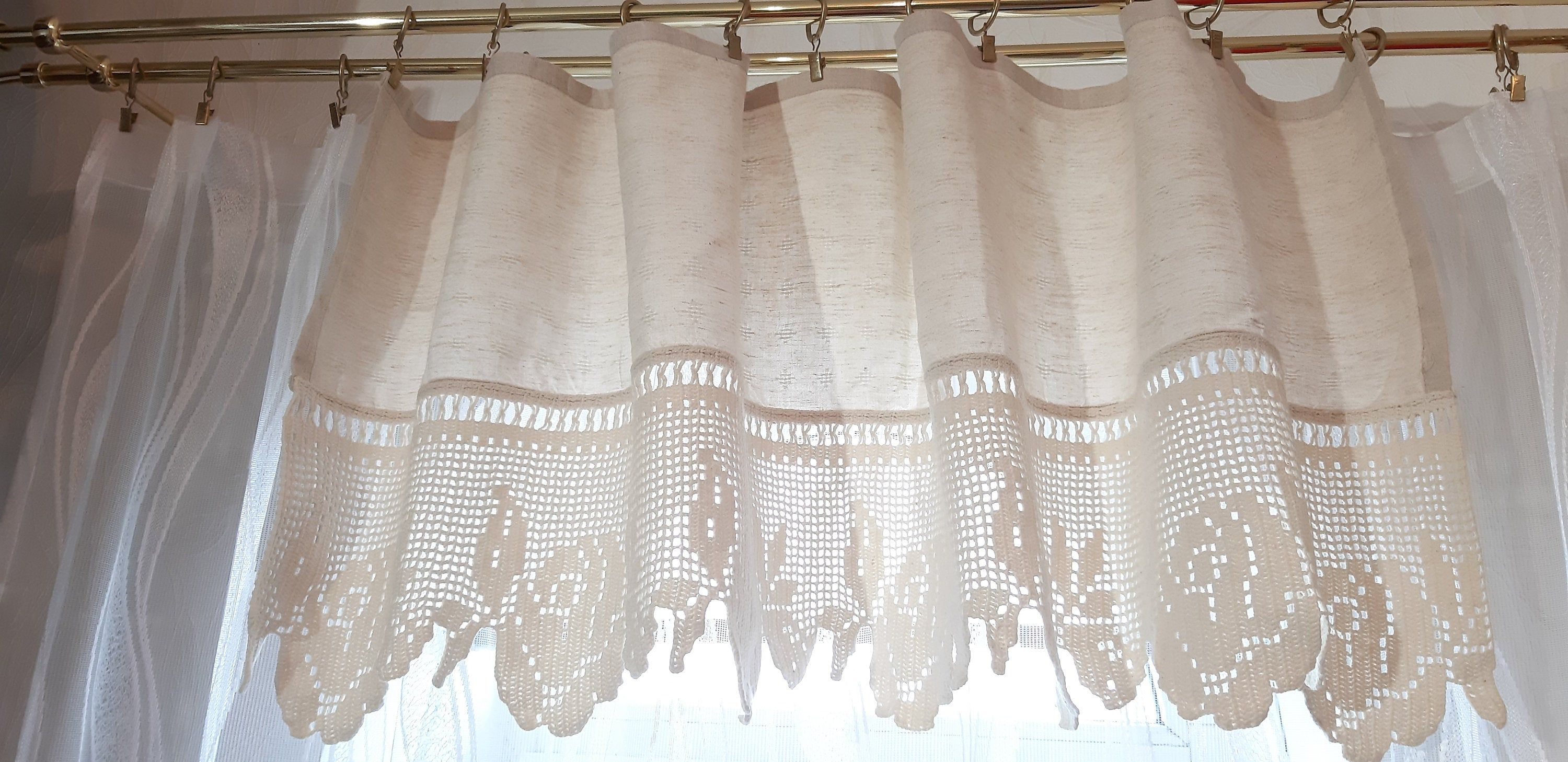 Vintage Valance Curtains Classic White Valance Curtains Crochet
