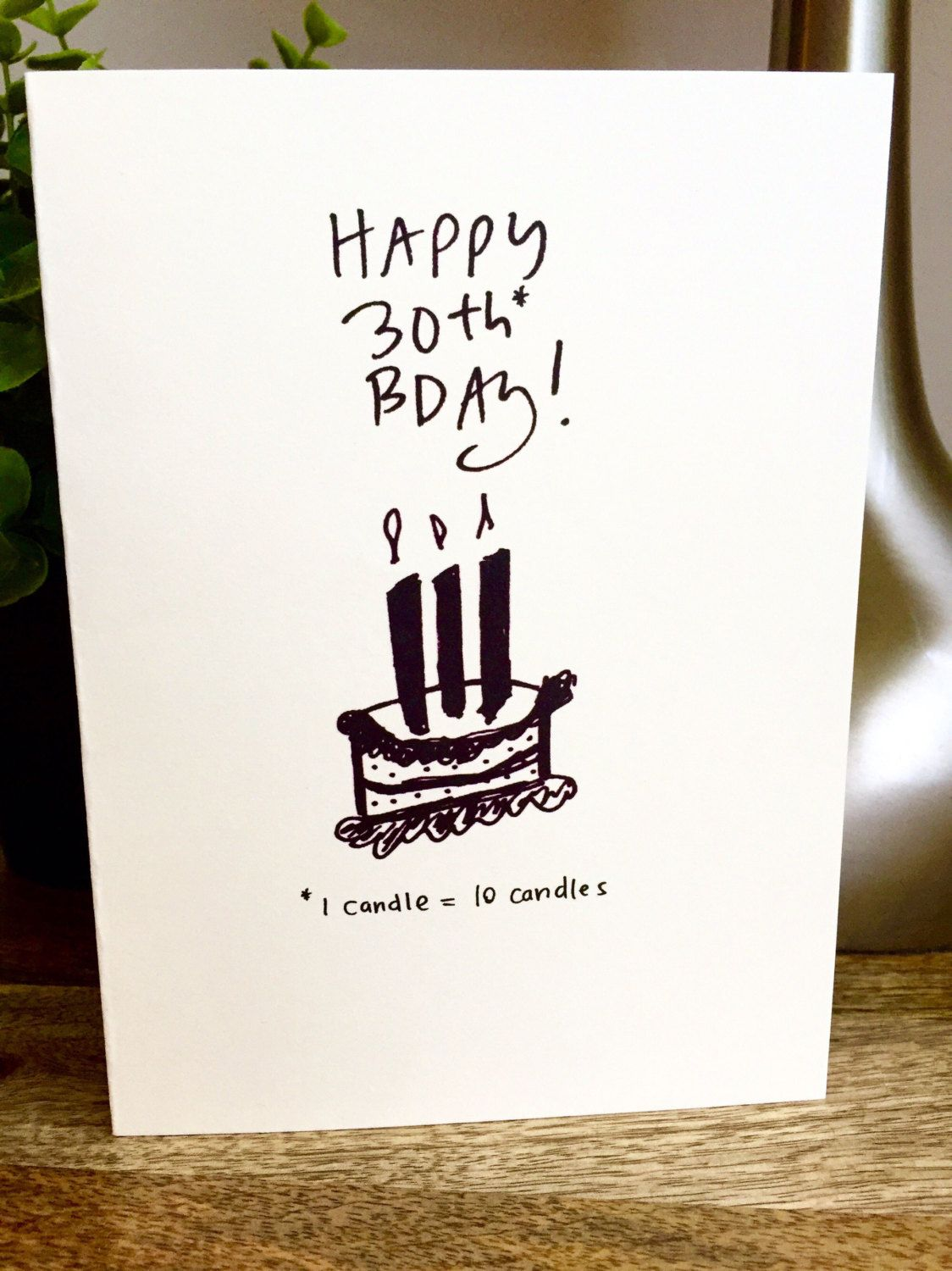 30th Birthday For Him Card Funny Bro Sidesandwich Brother By SideSandwich