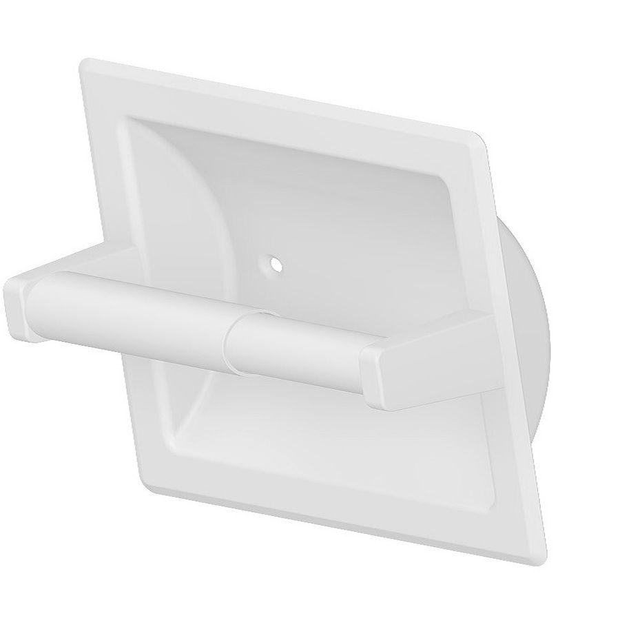 Project Source Seton White Recessed Spring Loaded Toilet Paper Holder Kitchen Bath Mini Reno Recessed Toilet Paper Holder Toilet Paper Bathroom
