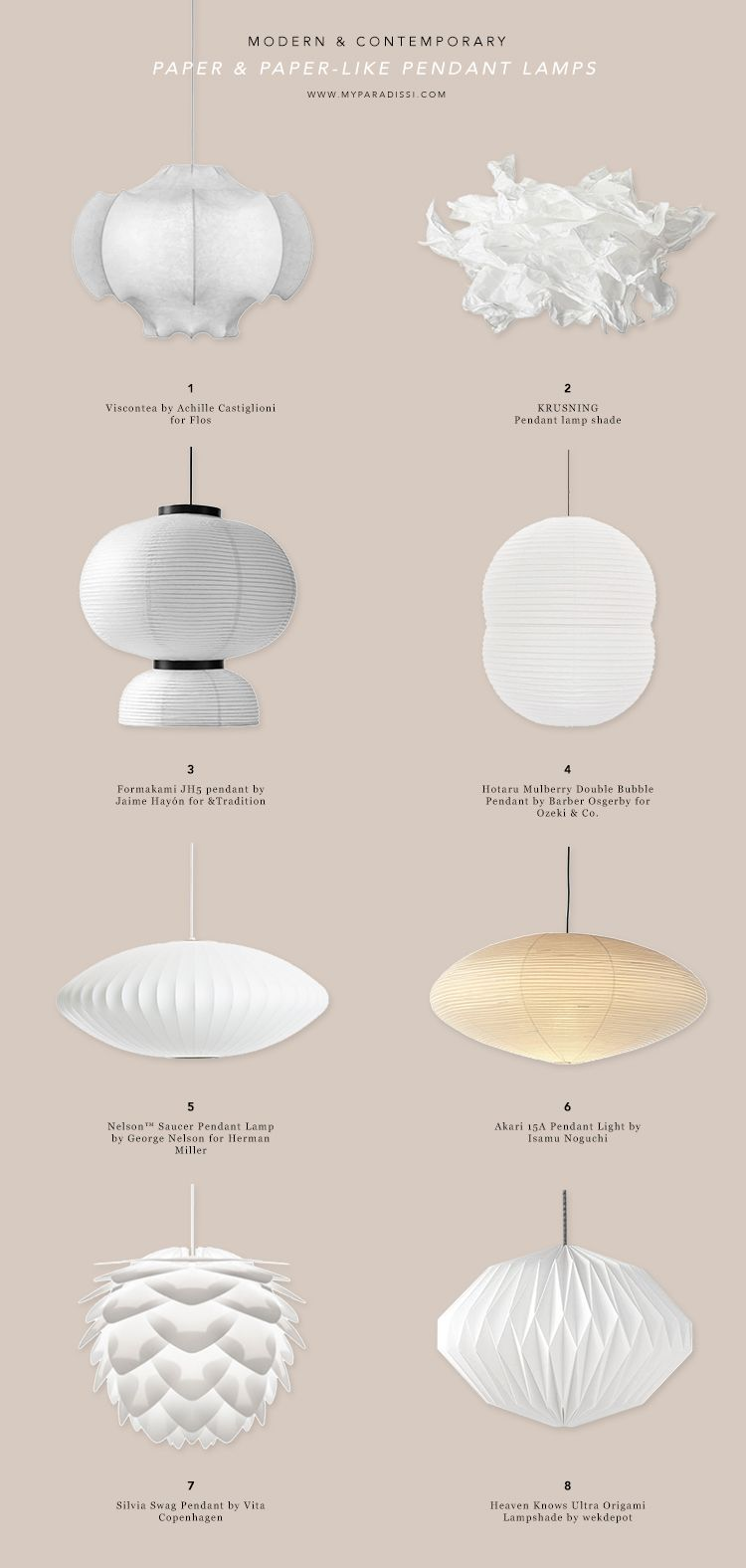 Current Favorites Paper Paper Like Pendant Lamps Lamper