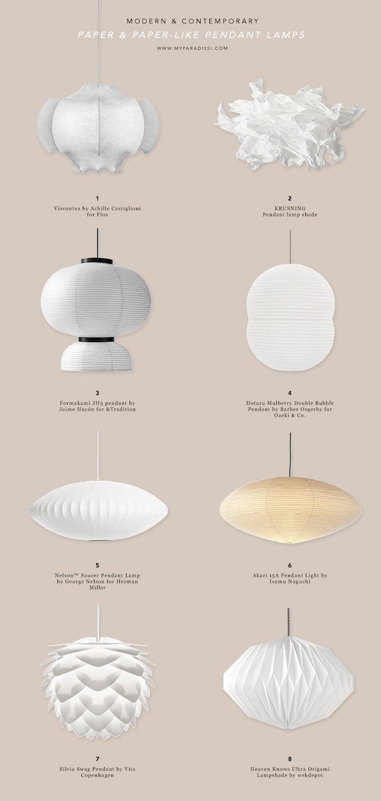 Paper Like Pendant Lamps