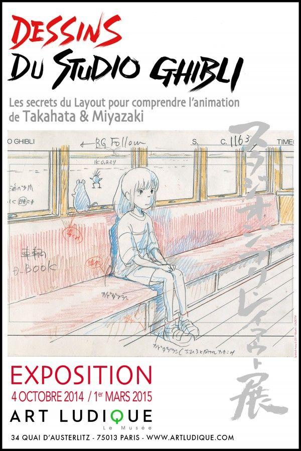 Exposition Dessins Du Studio Ghibli : exposition, dessins, studio, ghibli, Dessins, Studio, Ghibli, Musée, Ludique, Poster,, Ghibli,