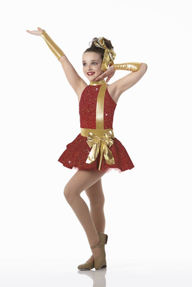 ALL WRAPPED UP Christmas Holiday Tap Dress Dance Costume Groups Child/Adult  NEW #Cicci - ALL WRAPPED UP Glitz Velvet Christmas Tap Dress Dance Costume Groups