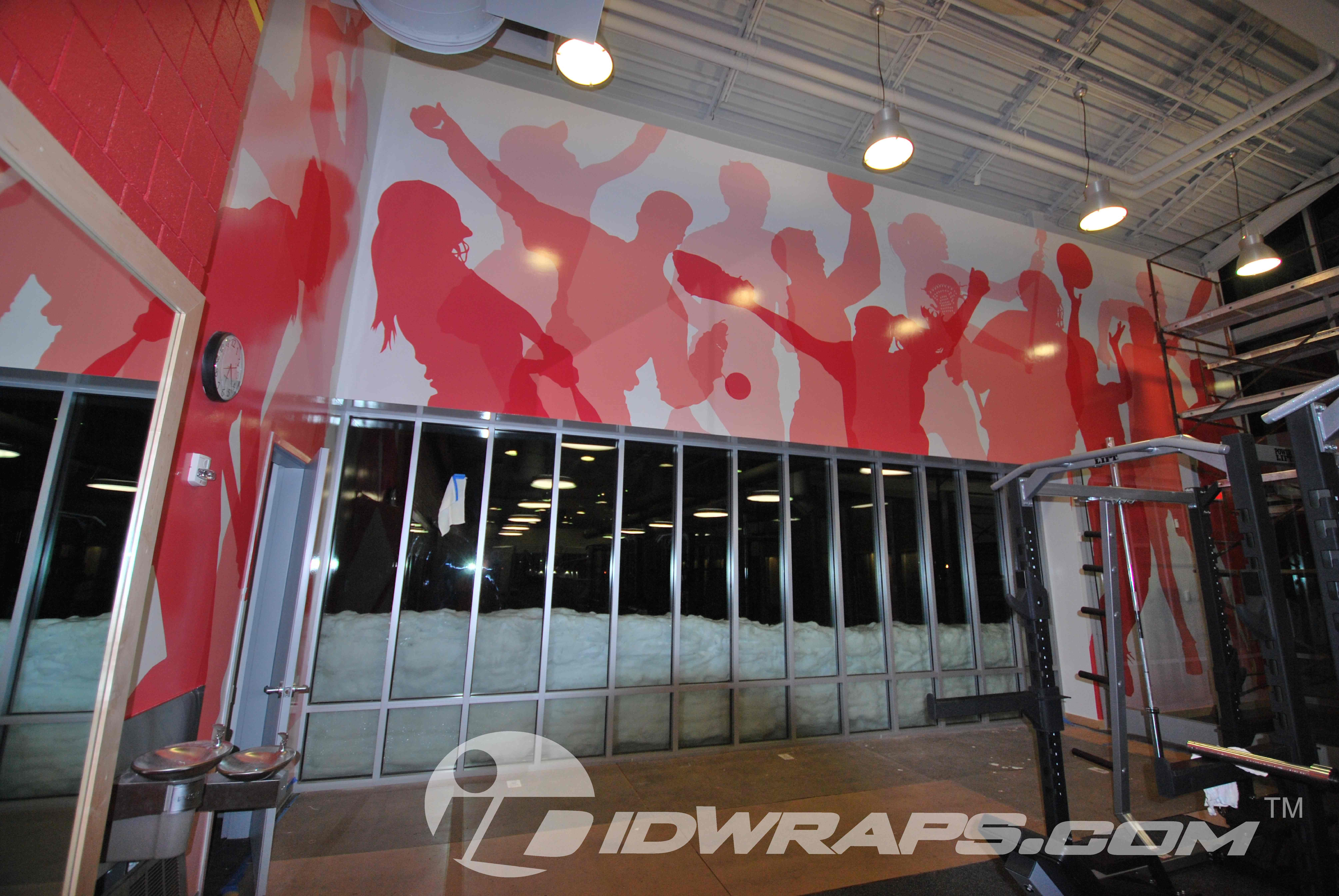 3M Vinyl Wall Mural Wrap for School in Bethlehem Gym ...