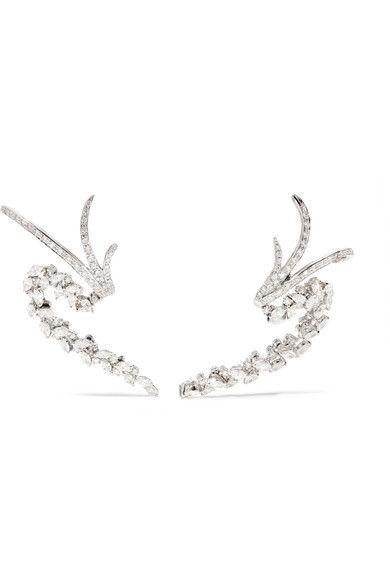 18-karat White Gold Diamond Earrings - one size Yeprem ApbSqroH0