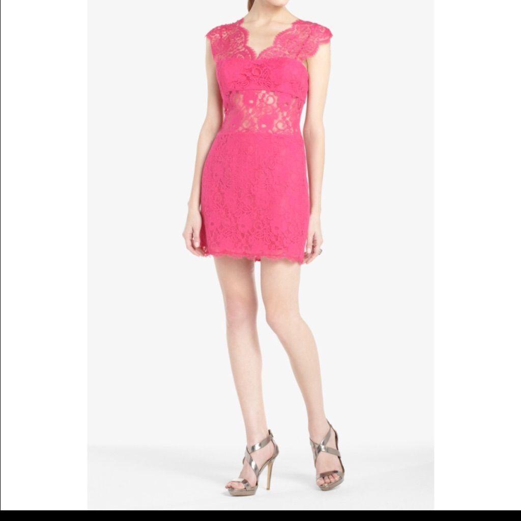 Pink Lace Bcbg Dress Size 4 | Pinterest