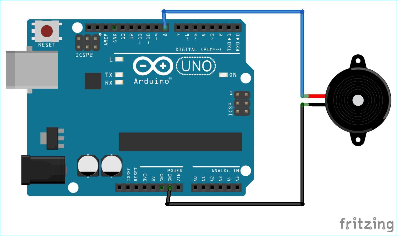 Circuit Diagram for Arduino based Morse code Generator