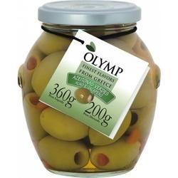 Olymp - Azeitonas Verdes Com Alho E Pimenta Jalapeño 200g