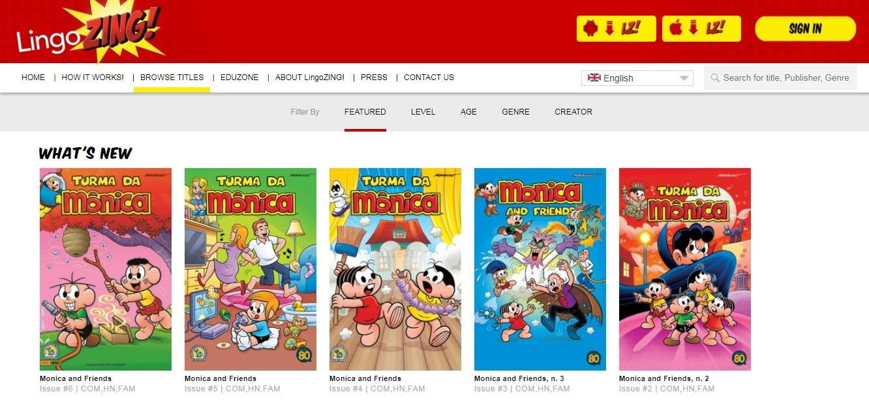 App Educacional Disponibiliza Turma Da Monica Em Linguas