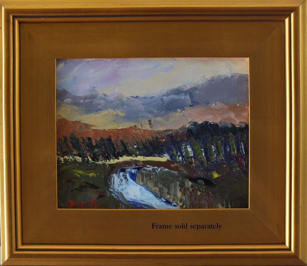 Marino Chanlatte plein air fine art oil painting impressionism Landscape COA #Impressionism