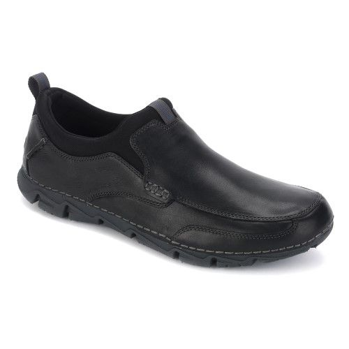 Rockport Men's RocSports Lite 2 Moc Slip On Black Leather Size ...