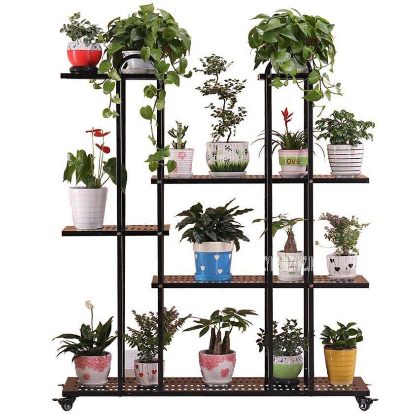 Nuevo Soporte Para Maceta De Plantas De Aterrizaje Multicapa Para Balcón Al Aire Libre Decoración De Jardín Maceta De Interior Soporte Para Flores Con Ruedas Soportes De Plantas En Interiores Plantas