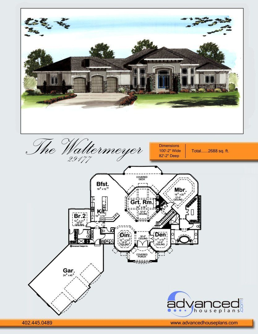 1 Story Mediterranean House Plan Waltermeyer Mediterranean Homes Mediterranean House Plan Mediterranean Style House Plans