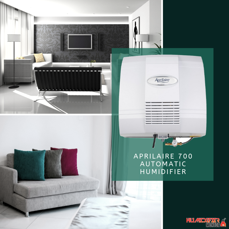 The Aprilaire 700 Automatic Humidifier sits at the top
