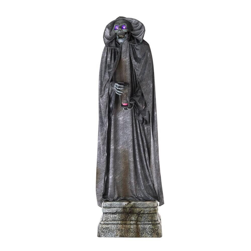 Home Accents Holiday 7 Ft Animated Led Cemetery Statue 2033 86001 The Home Depot Cemetery Statues Home Depot Halloween Halloween Props