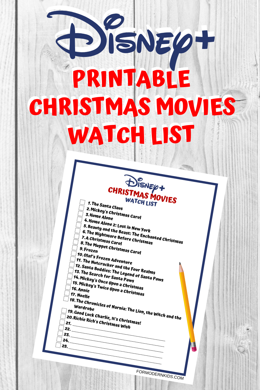 All The Best Christmas Movies On Disney Plus Free Printable List Best Christmas Movies Christmas Movies Disney Plus
