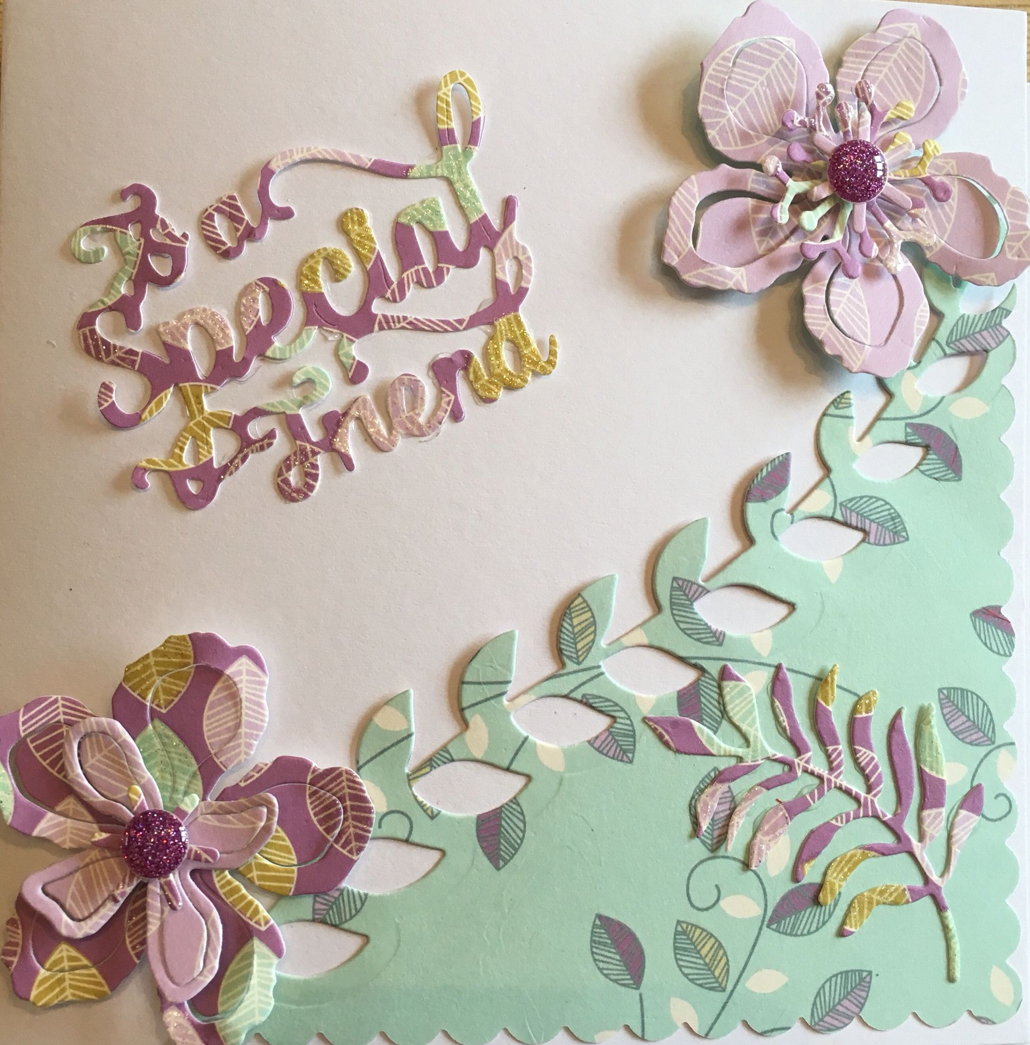 Stampin up Botanical flowers used for a special friend Birthday