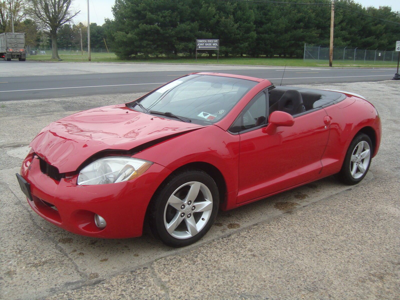 Lightly damaged 2007 mitsubishi eclipse spyder gs convertible rebuildable repairable for sale