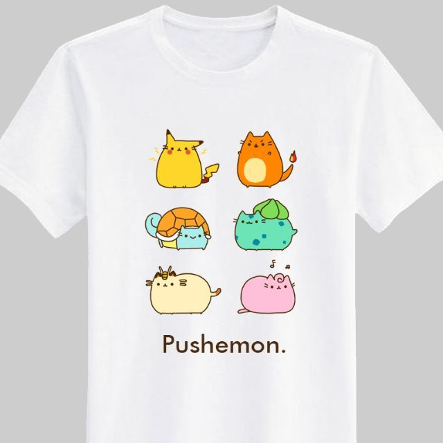Pusheen Pushemon Pokemon Shirt White by Geek Things