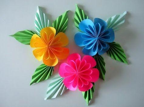 Como Fazer Flor Com Papel Plissado Youtube Borboletas De