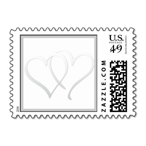 Intertwined Hearts Silver Wedding Postage