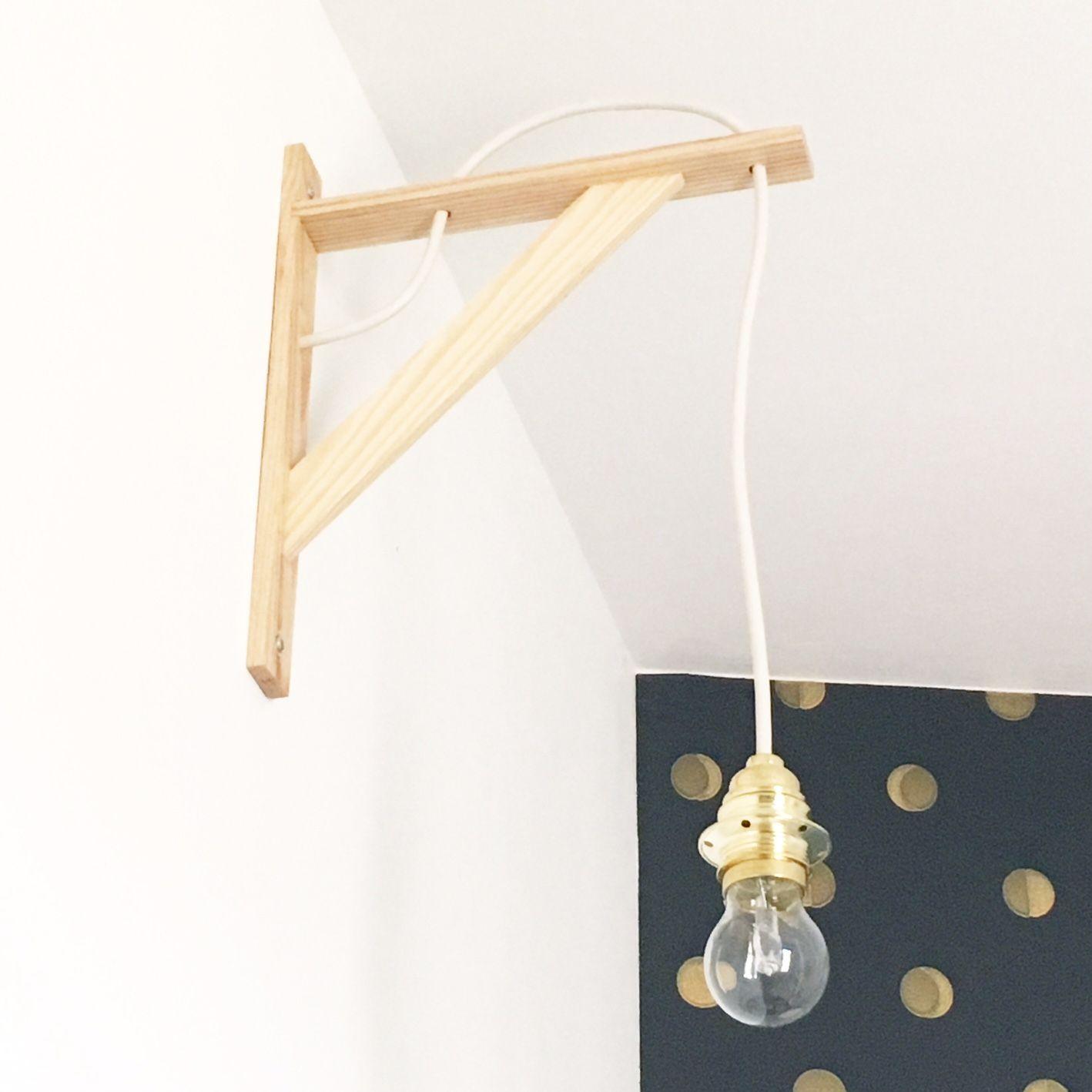 diy une applique murale qui en jette id es d co appart. Black Bedroom Furniture Sets. Home Design Ideas