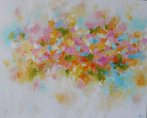 Abstracto Pintura Pastel Colores Colores Pintura Colores
