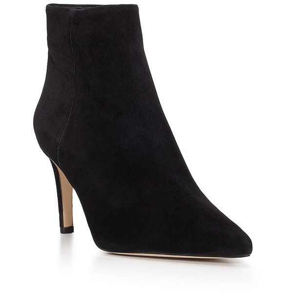 5df15e3500356a Sam Edelman Karen Suede Point Toe Boots ( 120) ❤ liked on Polyvore  featuring shoes