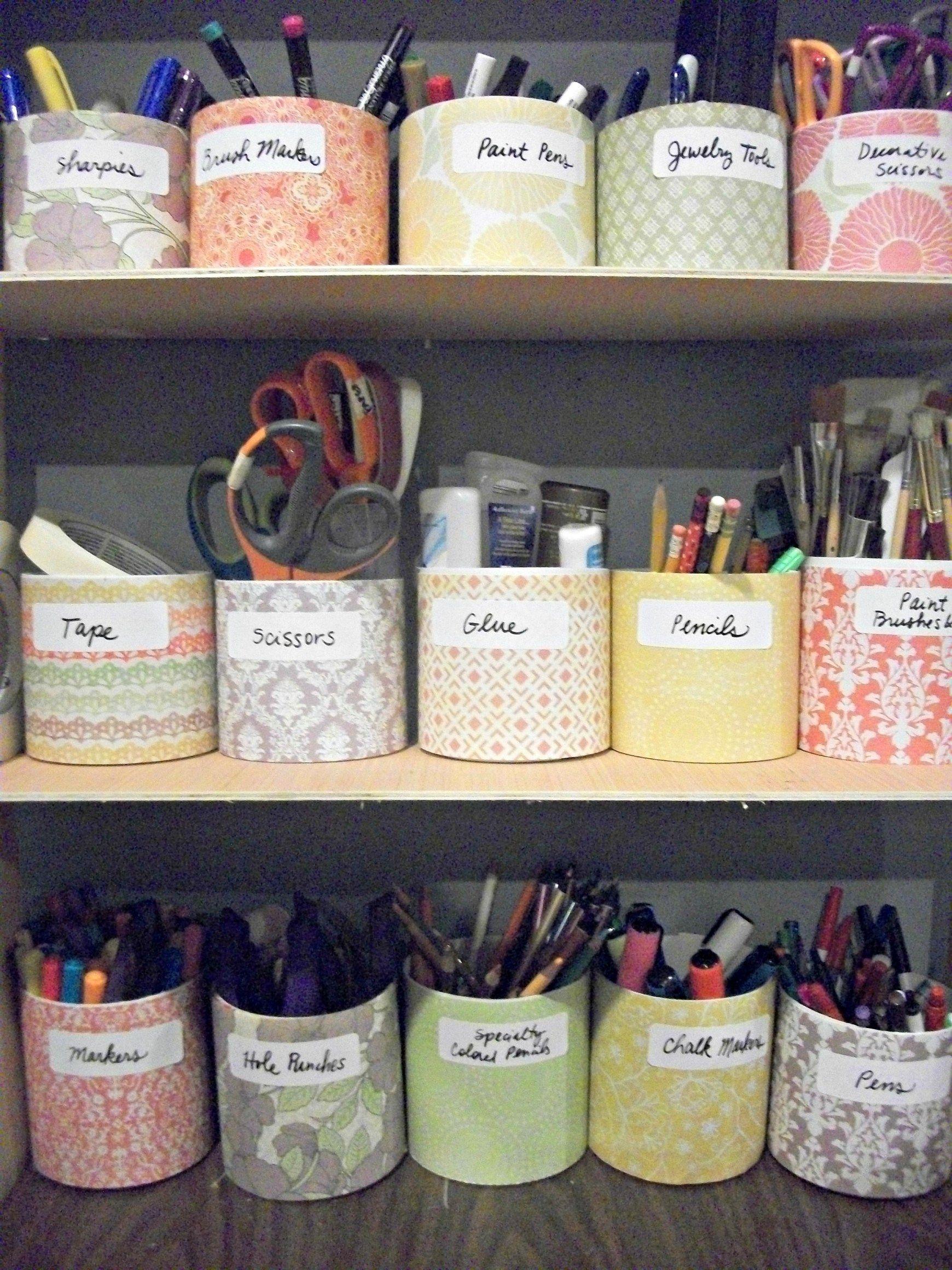 Craft Room Organization Using Clorox Containers Clorox