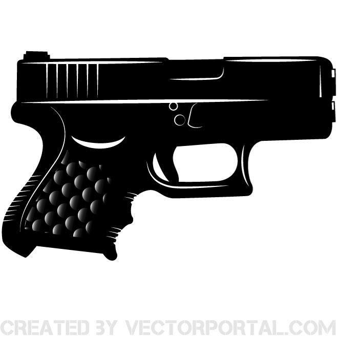 glock pistol vector clip art