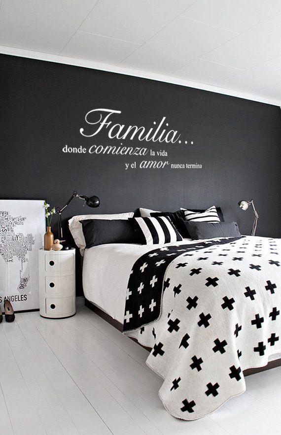 Familia Donde Comienza la Vida y el Amor Nunca Termina Wall Vinyl Decal Spanish Quote