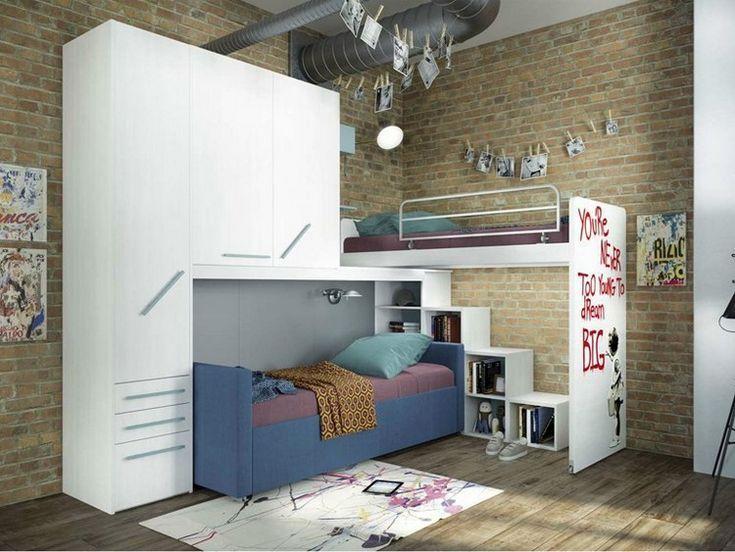 Jugendzimmer Jungen Etagenbett : Jugendzimmer jungen mit hochbett jugend diy dekoration