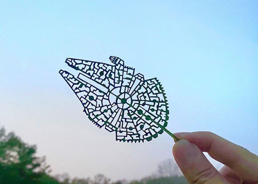 Un artista japonés crea intrincadas escenas en las hojas de los árboles -  Cultura Inquieta en 2020 | Arte de hoja, Artistas japoneses, Artistas