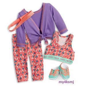 Details about American Girl 2018 Purple CHEER PRACTICE Outfit SET Tank DOLL NOT INCLUDED #americandolls