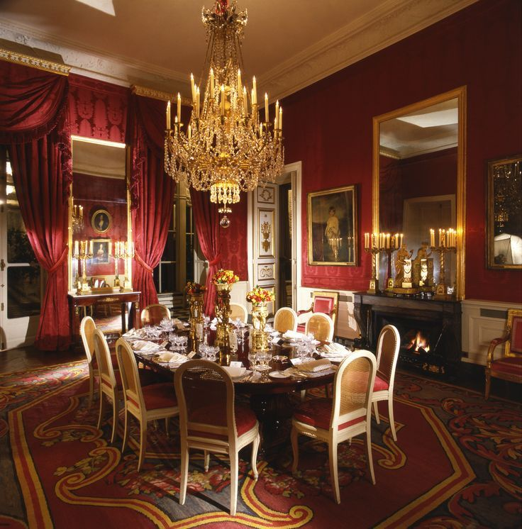 English embassy dining room in paris mhz design style for British room decor