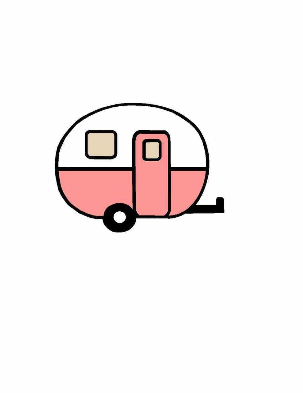 Camper Clip Art With Designs All Over It