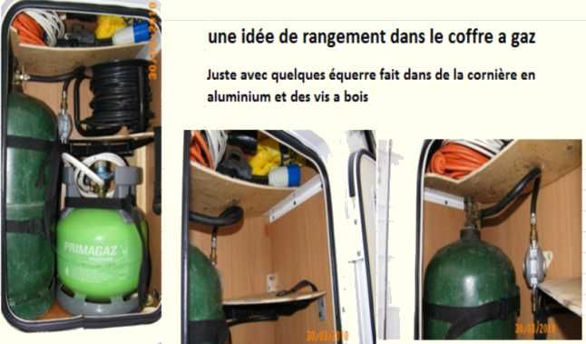 rangement dans soute gaz par georges am nagements astuces cc pinterest camping car. Black Bedroom Furniture Sets. Home Design Ideas