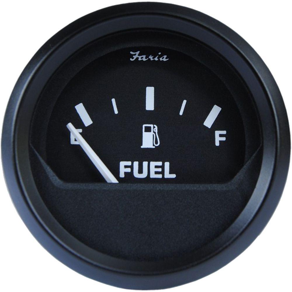 Faria Euro Black 2 Fuel Level Gauge E 1 2 F Boat Parts For Less Gauges Euro Metric