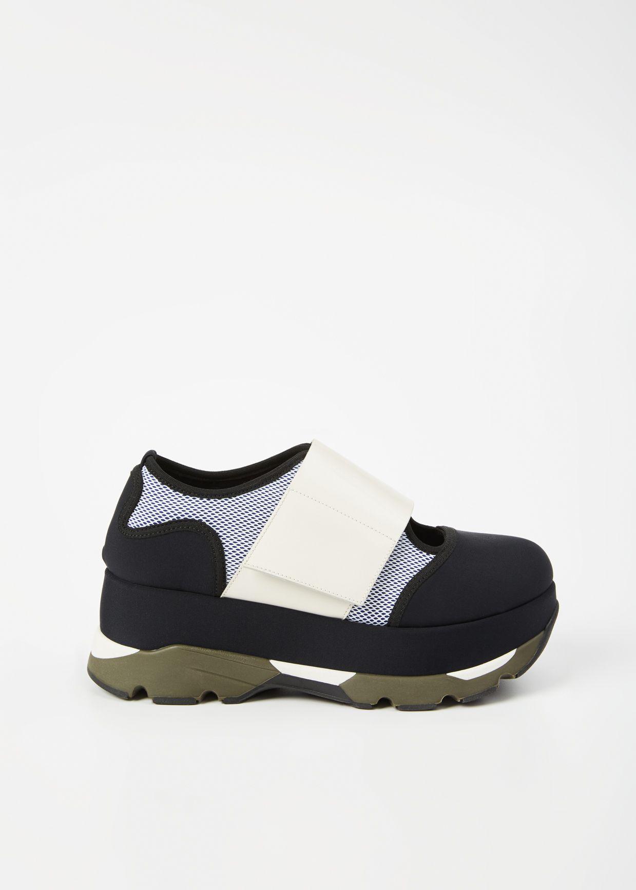 8a40a11a509 Marni Platform Sneaker (Black   White)