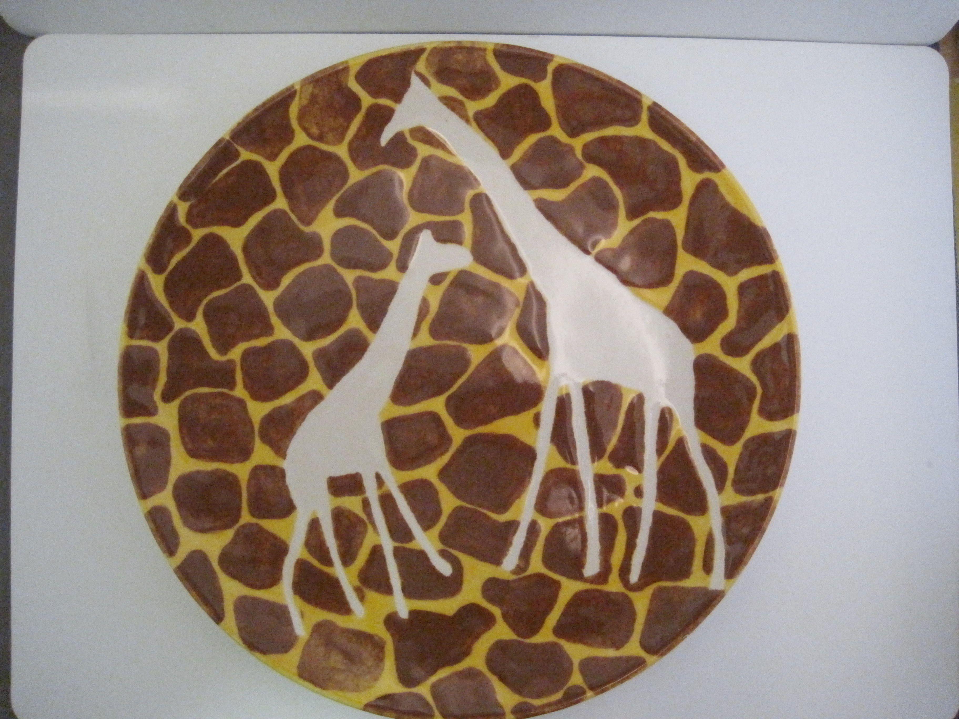 Giraffe print plate (by me!) | Plates | Pinterest