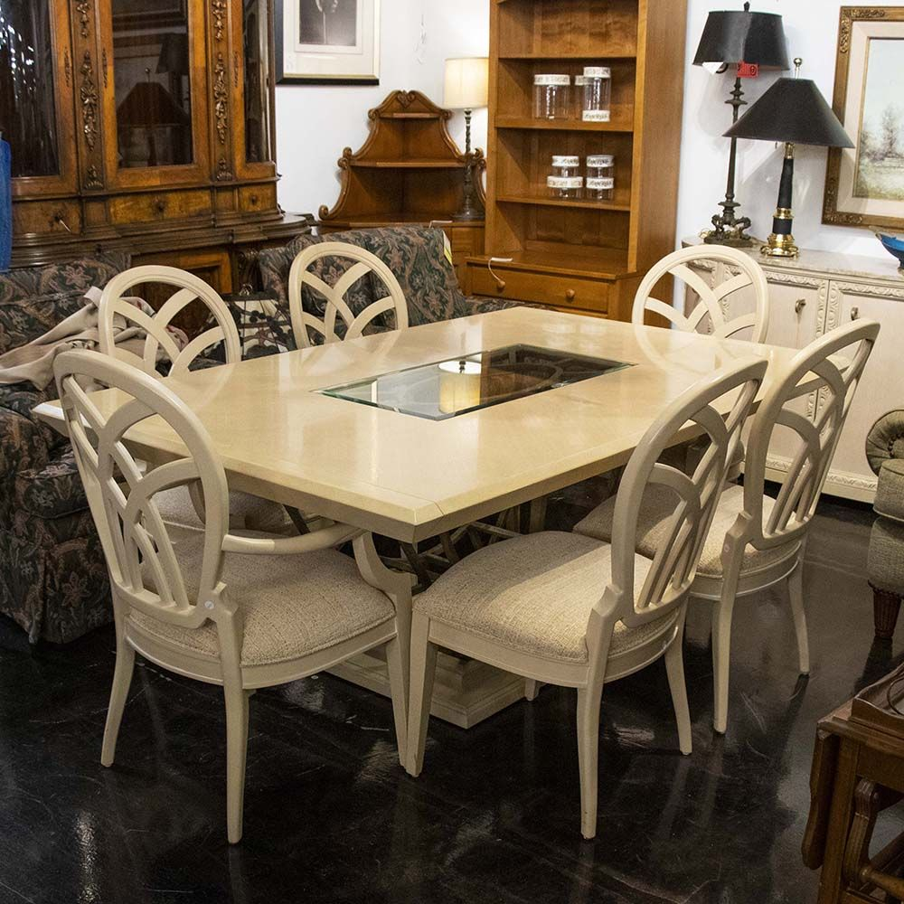 Dining Set From Century Furniture Has A Blonde Wood Finish A
