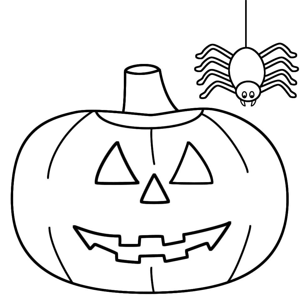 Halloween Pumpkin Coloring Pages Printable Asptur Intended ...