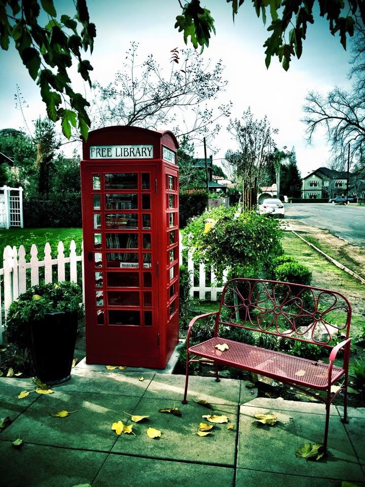Phone booth Little Free Library in Bakersfield, Ca