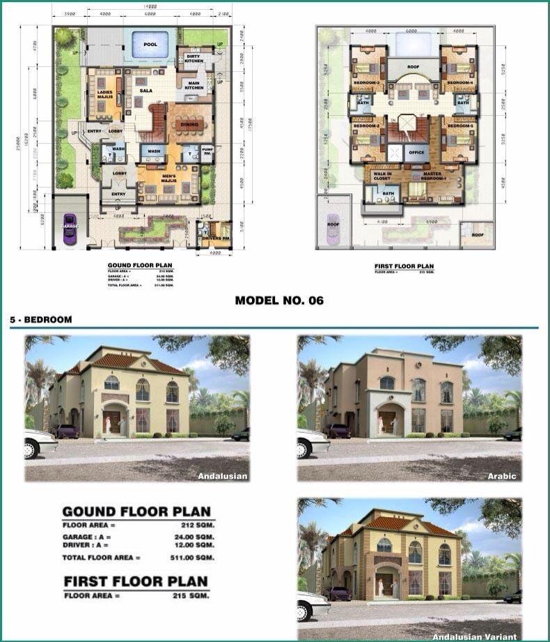 Saudi Aramco Villa Plans 6 Architecture Denah Rumah Rumah