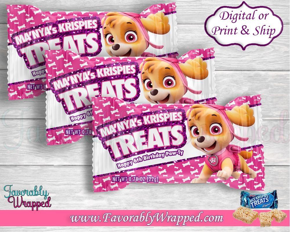 Skye Paw Patrol Rice Krispies Treat Wrappers-Paw Patrol ...